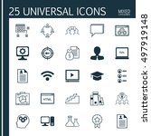 set of 25 universal icons on... | Shutterstock .eps vector #497919148