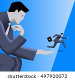 corporate vs small business... | Shutterstock .eps vector #497920072