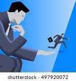 corporate vs small business... | Shutterstock .eps vector #497920072