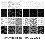 monochrome universal geometric... | Shutterstock .eps vector #497921386