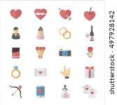 love valentine and wedding...   Shutterstock .eps vector #497928142