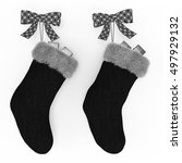 Black Christmas Stockings On...