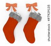 Orange Red Christmas Stockings...
