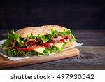 Fresh Submarine Sandwich With...