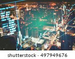 data analyzing in forex market... | Shutterstock . vector #497949676