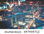 data analyzing in forex market... | Shutterstock . vector #497949712