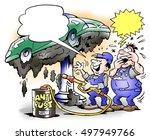 the car has been undercoating   Shutterstock . vector #497949766