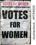 old votes for women poster   Shutterstock . vector #49795033