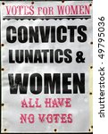 old votes for women poster | Shutterstock . vector #49795036