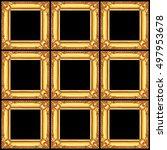 it is set of golden wooden... | Shutterstock . vector #497953678