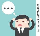 businessman confused. missing... | Shutterstock .eps vector #497964022