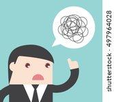 businessman bad communication.... | Shutterstock .eps vector #497964028