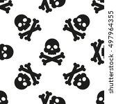 seamless pattern with skulls... | Shutterstock .eps vector #497964355