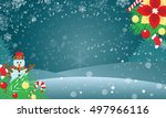 winter background for your... | Shutterstock .eps vector #497966116