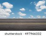3d rendering roadside with blue ... | Shutterstock . vector #497966332