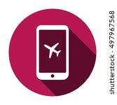 aircraft icon. flat design. | Shutterstock .eps vector #497967568