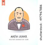 mafia boss illustration people... | Shutterstock .eps vector #497967886