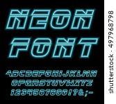 neon font. vector. | Shutterstock .eps vector #497968798