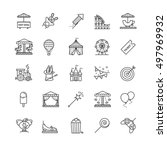 thin line web icons set  ... | Shutterstock .eps vector #497969932