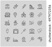 thin line web icons   amusement ... | Shutterstock .eps vector #497972356