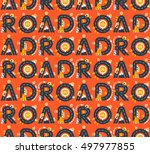 vector seamless pattern with... | Shutterstock .eps vector #497977855