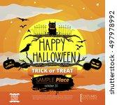 vector halloween illustration... | Shutterstock .eps vector #497978992