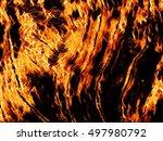 Flaming Wood Texture Digital...