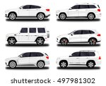 realistic suv car. set | Shutterstock .eps vector #497981302