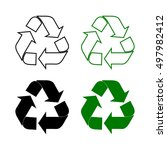 recycle symbol | Shutterstock .eps vector #497982412