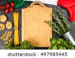 italian food ingredients | Shutterstock . vector #497985445