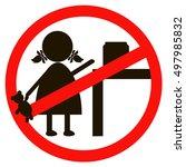 children prohibited vector | Shutterstock .eps vector #497985832