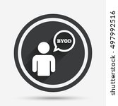 byod sign icon. bring your own... | Shutterstock .eps vector #497992516