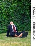 businessman working on laptop... | Shutterstock . vector #4979935
