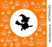 halloween background. | Shutterstock .eps vector #497995492