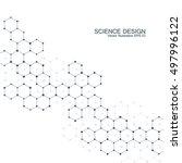 hexagonal molecule. molecular... | Shutterstock .eps vector #497996122