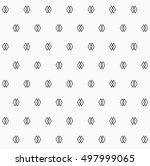 abstract geometric pattern with ... | Shutterstock .eps vector #497999065
