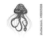 Hand Drawn Jellyfish Zentangle...