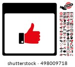 thumb up hand calendar page...   Shutterstock .eps vector #498009718