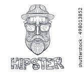 ornate hipster print  adult... | Shutterstock .eps vector #498013852