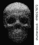 vector line art. skull... | Shutterstock .eps vector #498017872