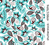 paisley seamless pattern.... | Shutterstock .eps vector #498017896
