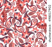 paisley seamless pattern.... | Shutterstock .eps vector #498017902