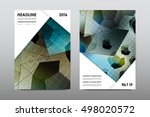 brochure layout template flyer... | Shutterstock .eps vector #498020572
