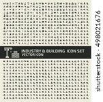 industry and building icon set... | Shutterstock .eps vector #498021676