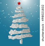 card christmas tree made of... | Shutterstock .eps vector #498021832