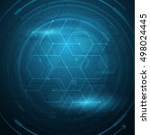 vector tech background hexagon... | Shutterstock .eps vector #498024445