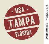 grunge vintage round stamp with ... | Shutterstock .eps vector #498032476