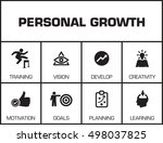 personal growth. chart with... | Shutterstock .eps vector #498037825