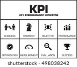 kpi key performance indicator.... | Shutterstock .eps vector #498038242