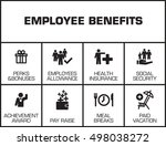 employee benefits. chart with... | Shutterstock .eps vector #498038272